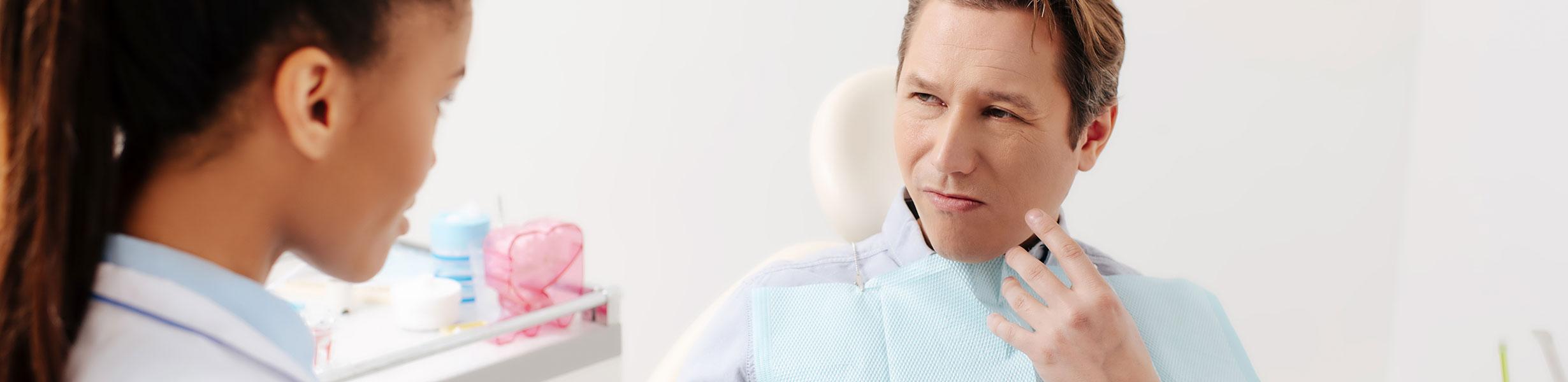 Man at the dental clinic